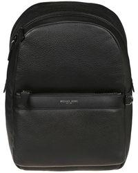 Michael Kors Greyson Pebbled Leather Backpack - Black