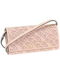 Burberry Pale Fawn Pink Ladies Perforated Clutch