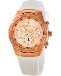 TechnoMarine Sea Manta Chronograph Quartz Rose Dial Ladies Watch -218041 - Metallic