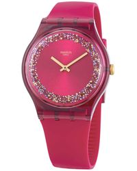 Swatch Ruby Rings Quartz Red Dial Ladies Watch - Multicolor