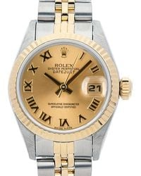 Rolex Pre-owned Datejust Automatic Chronometer Champagne Dial Ladies Watch  Crj - Metallic