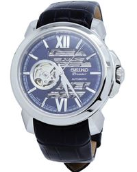 Seiko Premier Automatic Blue Dial Mens Watch
