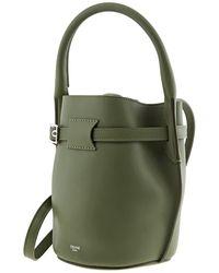 Celine Big Nano Bucket Bag In Smooth Calfskin - Green