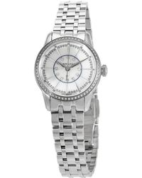 Hamilton Railroad White Mother Of Pearl Dial Stainless Steel Watch - Metallic