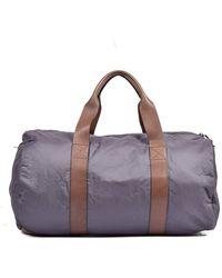 Brunello Cucinelli Brown, Grey Unisex Travel Bag -cb886 - Multicolour