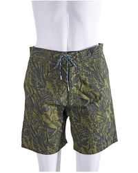 A.P.C. Ladies Shorts Forest Print - Green
