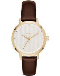 DKNY The Modernist Quartz White Dial Watch - Multicolour
