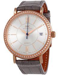 Iwc Portofino Automatic Diamond Silver Dial Ladies Watch - Metallic