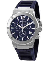 Ferragamo F80 Chronograph Quartz Blue Dial Watch