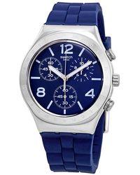 Swatch Bleu De Bienne Chronograph Blue Dial Mens Watch
