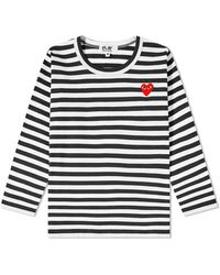 Comme des Garçons Kids Long-sleeve Stripe Cotton T-shirt - Multicolor