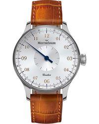 Meistersinger Circularis Hand Wind Silver Dial Mens Watch - Metallic