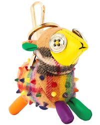 Burberry Wendy The Sheep Rainbow Vintage Check Charm- Multicolour/antique Yellow
