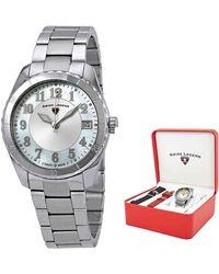Swiss Legend Sea Breeze Mother Of Pearl Ladies Watch Set With 2 Bonus Interchangeable Watch Straps -16003sm-02-set - Metallic