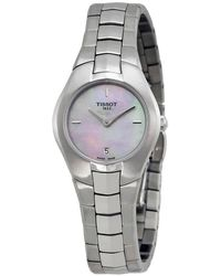 Tissot - T-round Pink Mother Of Pearl Dial Ladies Watch T0960091115100 - Lyst