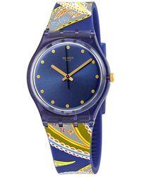 Swatch Silky Way Quartz Blue Dial Ladies Watch
