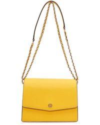 Tory Burch Robinson Floral Interior Convertible Shoulder Bag - Yellow