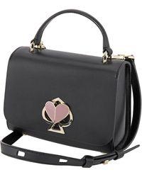 Kate Spade Blazer Blue Multi Nicola Twistlock Small Top Handle Bag - Black