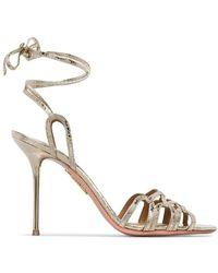 Aquazzura Ladies Azur Metallic 95 Sandals, Brand