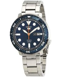 Seiko 5 Sports Automatic Blue Dial Mens Watch