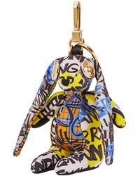 Burberry Vera The Hare Graffiti Print Cotton Charm - Yellow