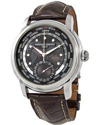 Frederique Constant Classic Wolrdtimer Automatic Grey Dial Mens Watch -718dgwm4h6 - Gray