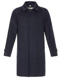 Burberry Cashmere Car Coat - Blue