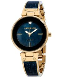 Anne Klein Navy Mother Of Pearl Dial Ladies Watch - Blue