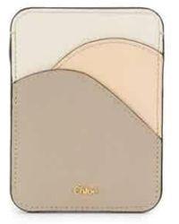 Chloé Ladies Grey Walden Card Case - Gray