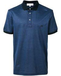 Ferragamo Mens Logo-embroidered Gancini Polo Shirt - Blue