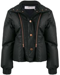 Chloé Ladies Black Quilted Down Puffer Jacket, Brand