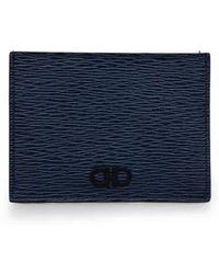 Ferragamo Salvatore Mens Gancini Card Case - Blue