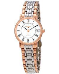 Longines Presence Automatic White Dial Ladies Watch - Metallic