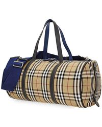 Burberry Kennedy Holdall - Blue