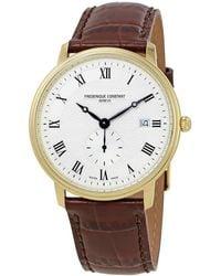 Frederique Constant Classics Slim Line Silver Dial Mens Watch 245m5s5 - Metallic