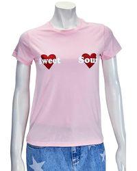 Yazbukey Ladies T-shirt Pink Kiss And Tell Embro, Brand