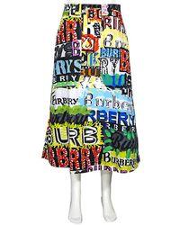 Burberry Logo Print Cotton Skirt - Multicolor