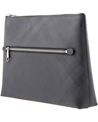 Burberry London Check Zip Pouch - Gray