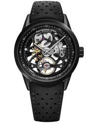 Raymond Weil Freelancer Automatic Black Skeleton Dial Mens Watch -bkr-20000