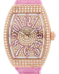 Franck Muller anguard Quartz Diamond Ladies Watch  29 Qz D Cd (5n.rs) - Pink