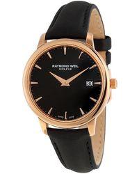 Raymond Weil Toccata Black Dial Ladies Watch -pc5-20001 - Metallic