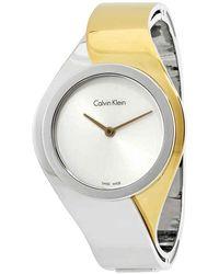 Calvin Klein Senses Silver Dial Ladies Watch - Metallic