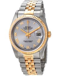 Rolex Pre-owned Datejust Automatic Silver Dial Mens Watch - Metallic