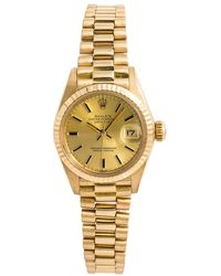 Rolex Lady Datejust 26mm Other Yellow Gold Watches - Metallic