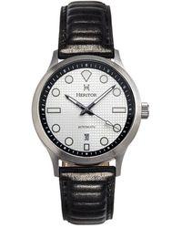 Heritor Bradford Automatic Silver Dial Mens Watch - Metallic
