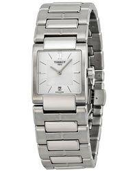Tissot T2 White Dial Stainless Steel Ladies Watch T0903101111100 - Metallic