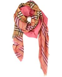 Burberry Vintage Check Scarf - Pink