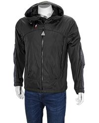 Moncler - Logo Patch Hooded Jacket In Black - Lyst