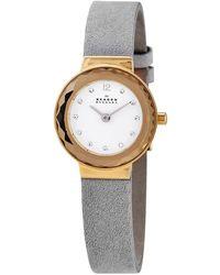 Skagen - Leonora Quartz Crystal White Dial Ladies Watch - Lyst