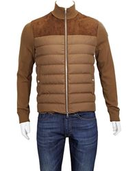 Moncler Padded Panel Sweater, Brand - Brown